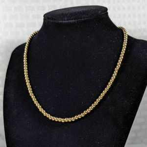 Ralph Lauren Gold Beaded Necklace